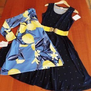 LULAROE OUTFIT! NICKI DRESS, CAROLINE CARDIGAN &